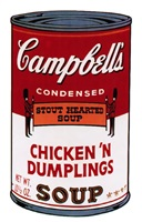 campbell's soup ii: chicken 'n dumplings [ii.58] by andy warhol